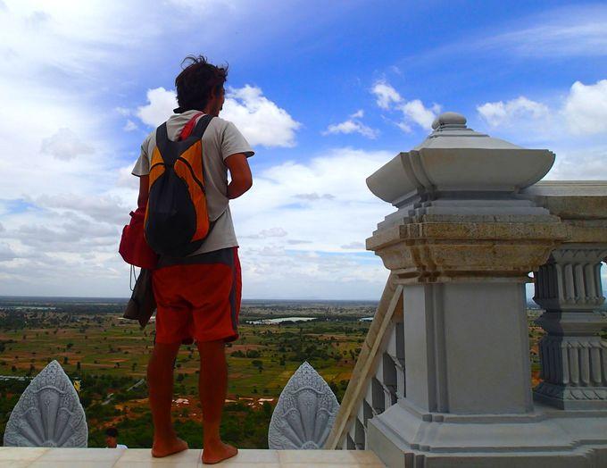 絶景!カンボジアが一望できるウドンの丘