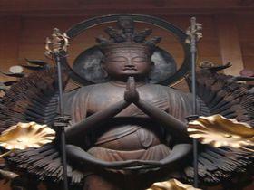 仏像好き必見!明かりに照らされた京都・寿宝寺の十一面千手千眼観音