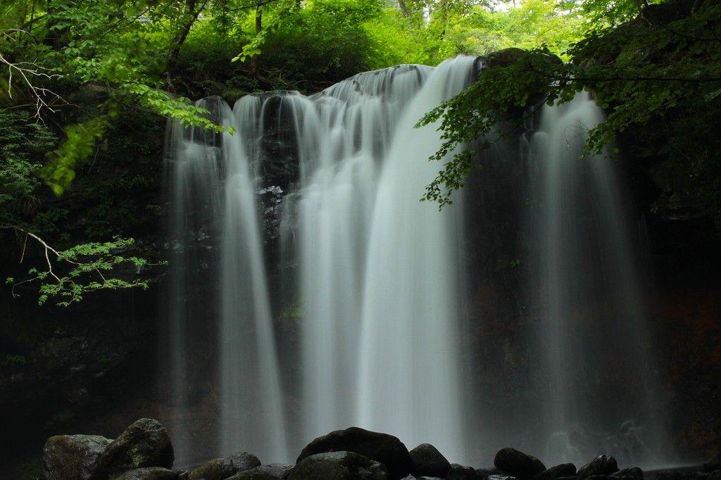 『乙女の滝』ネーミング通りの美しい滝