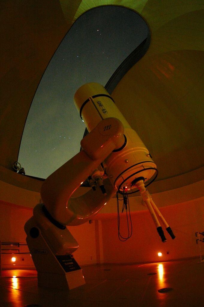 大口径65センチ天体望遠鏡で迫力の星空散歩を!