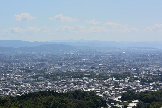 展望所からの京都市内