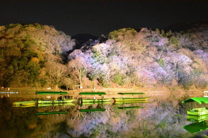 神秘的な大堰川(桂川)風景