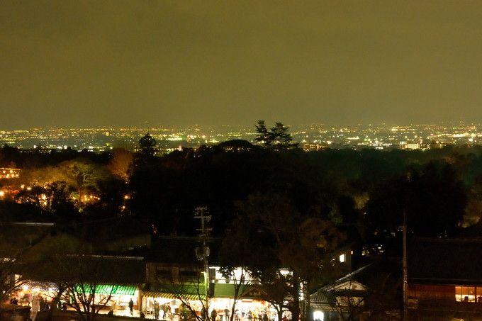 奈良市街の夜景