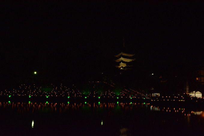 猿沢池と興福寺会場