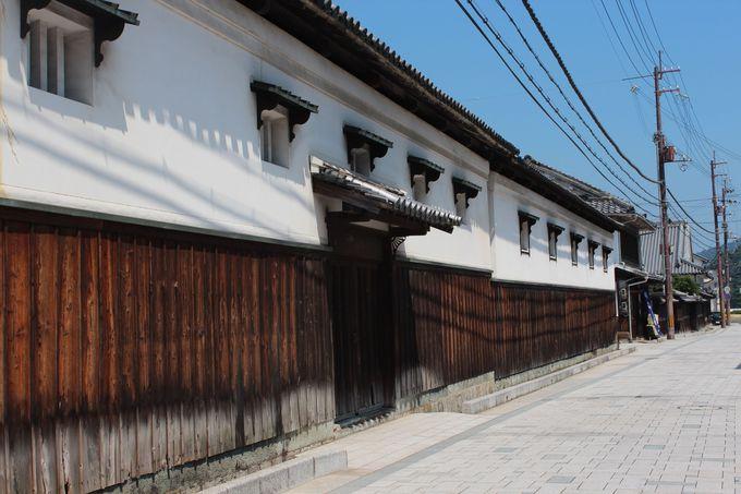 江戸時代の風情を残す坂越の街並み