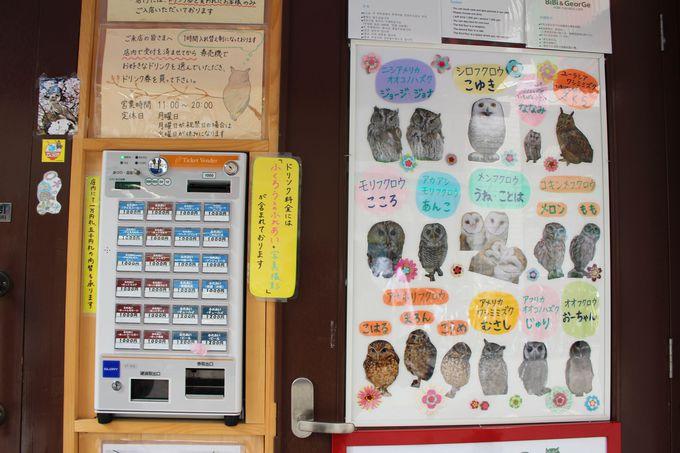 まずは入り口の発券機でチケットを購入して入店