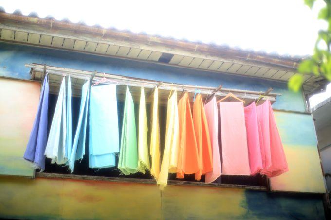 カラフルなタオルがトレンドマークの「月光荘」