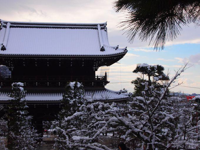 金戒光明寺の御影堂前からの眺め