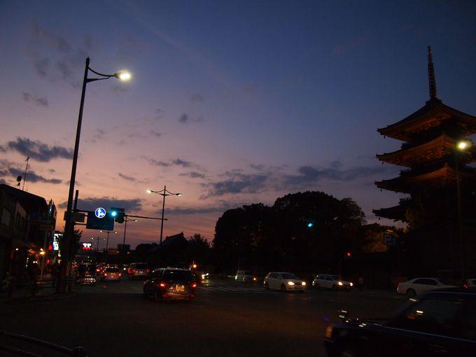 京都のシンボルの1つ、東寺の五重の塔