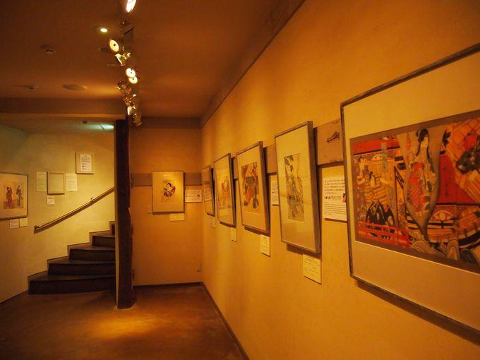 「上方浮世絵館」の展示室