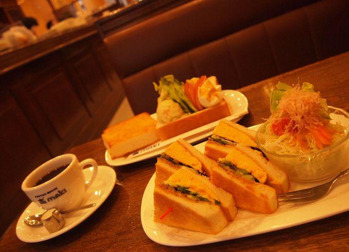 「COFFEE HOUSE maki」和風タマゴトーストセット
