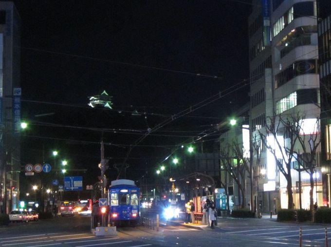 熊本城と路面電車