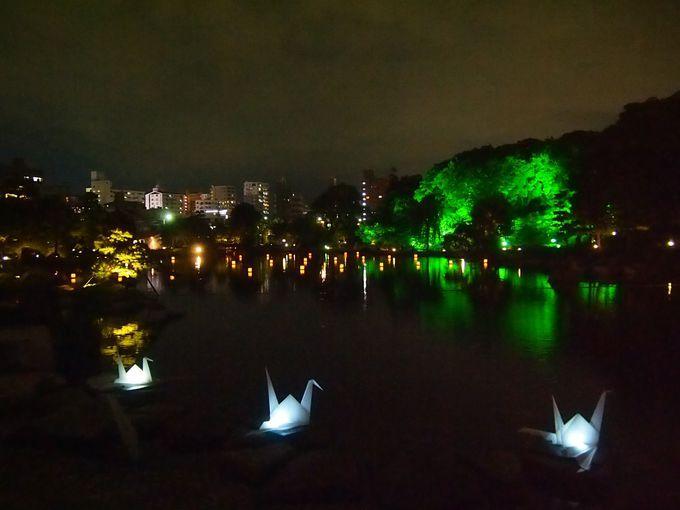 龍仙湖周辺の光景