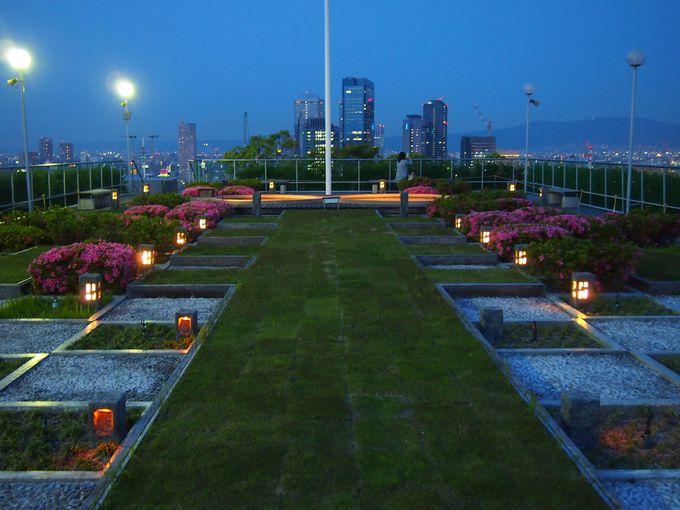 無料開放のビル屋上庭園!大阪・天満橋「OMM」の夕景&夜景が絶景