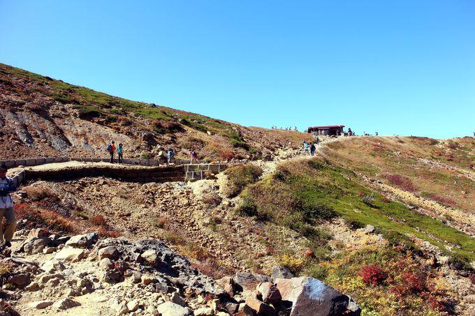 まずは朝日岳の分岐点である『峰の茶屋』目指す