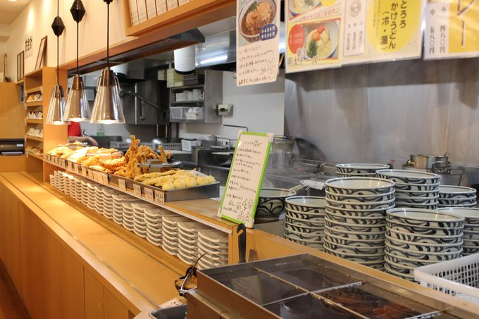 もちもち食感の「釜あげうどん 岡じま」高松店