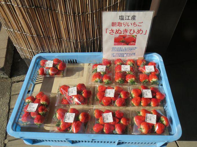道の駅で人気の香川オリジナルいちご「さぬきひめ」
