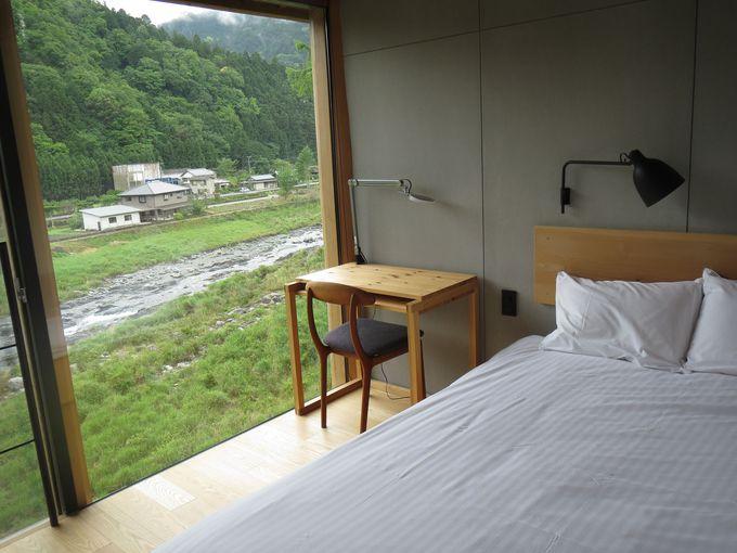 部屋と自然の一体感