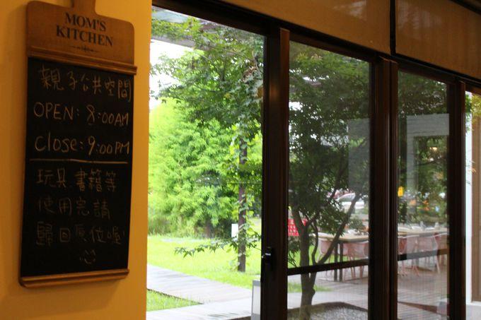 羅東夜市もすぐ近く、休憩室ではカップ麺のサービス