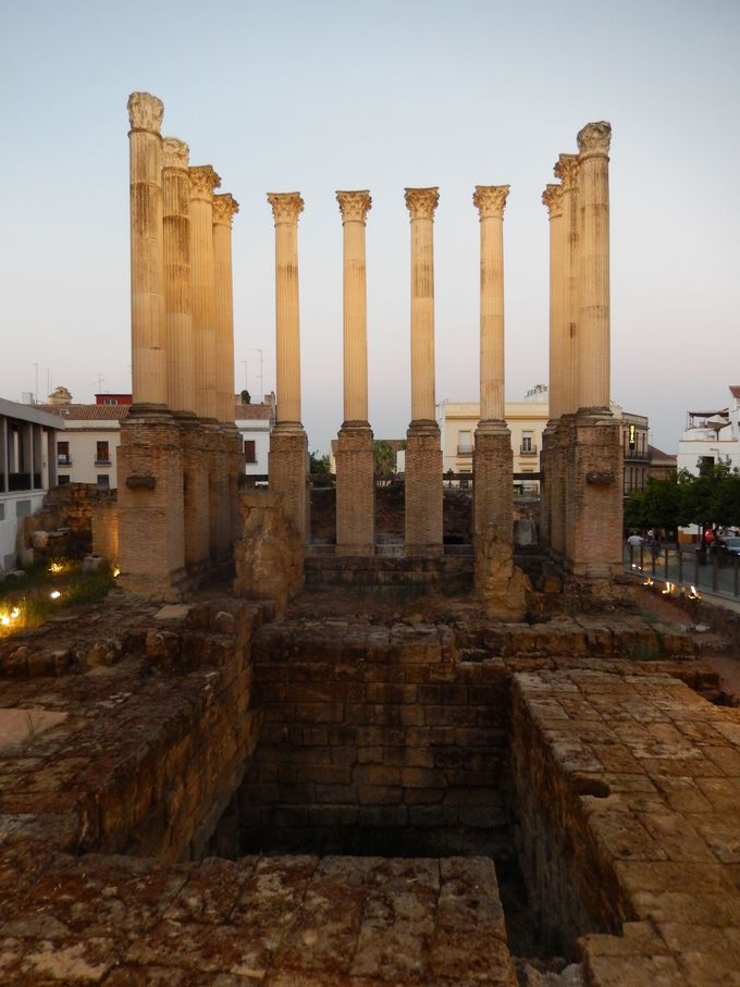 コルドバに残る古代ローマの遺跡