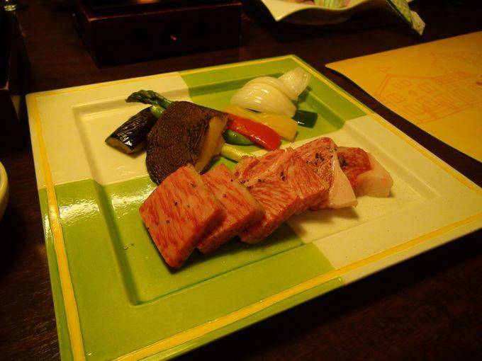 豊後牛が楽しめる夕食
