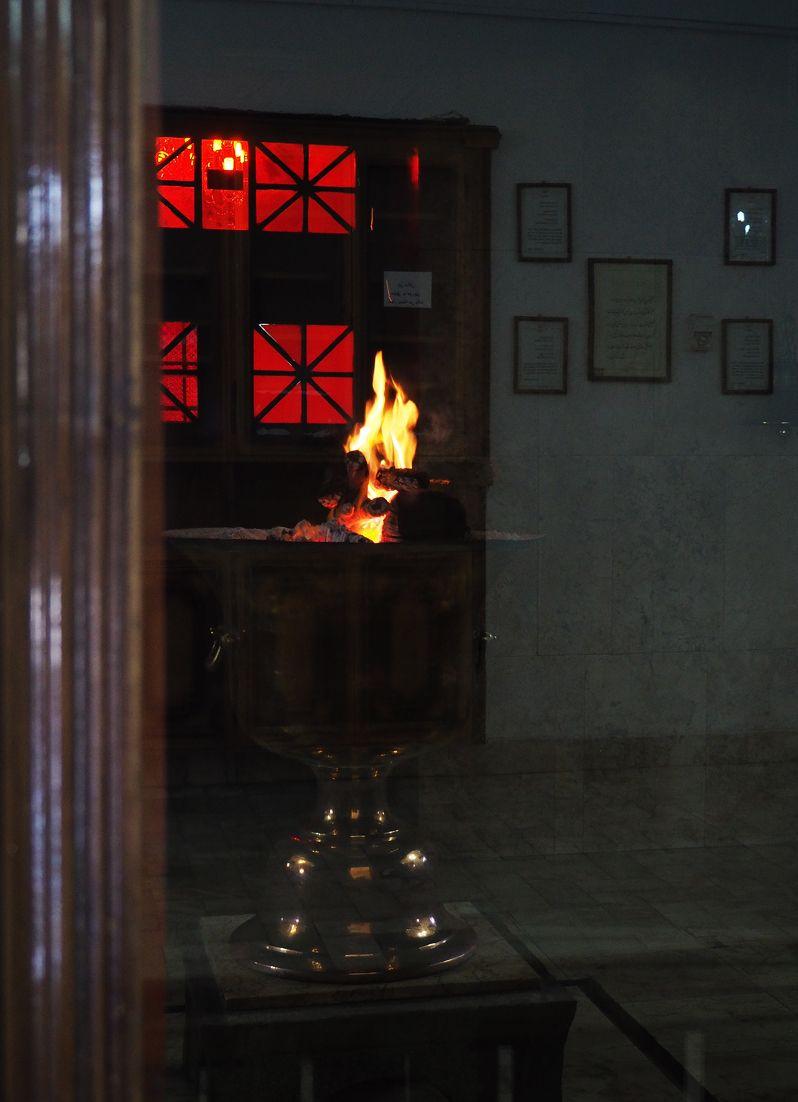 ゾロアスター教の寺院で聖火を見る!