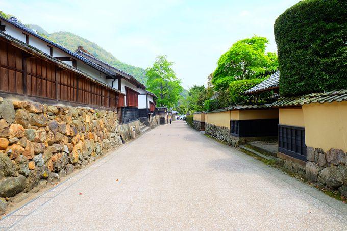 真名井社家通りは情緒あふれる静寂な通り