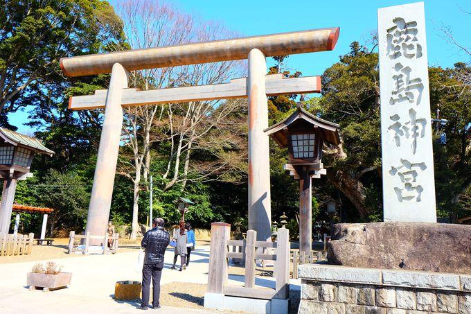 震災復興のシンボルとして再建された大鳥居