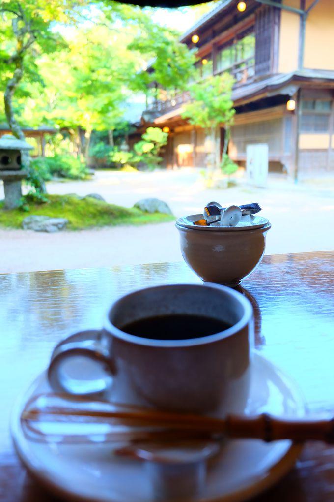 離れの喫茶でゆったり朝食後のコーヒーを…