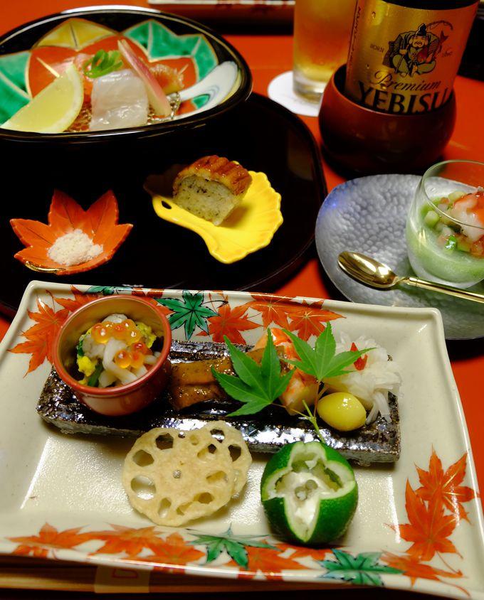 季節感、器、料理が織りなす京懐石