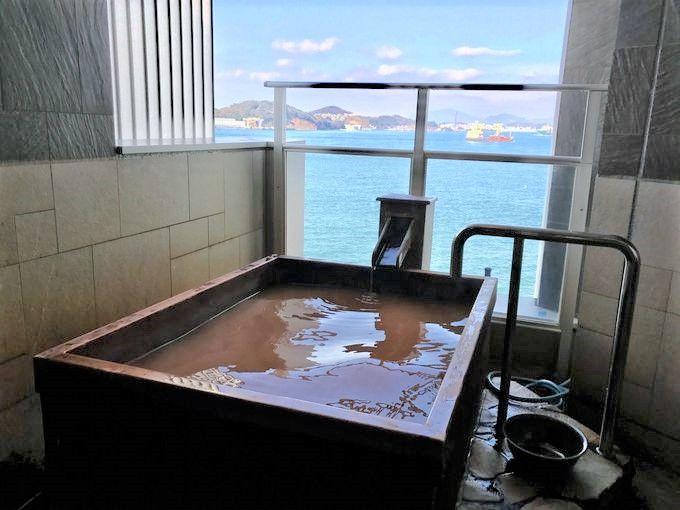 海風が心地よい「もじポート」の家族風呂は自分だけの贅沢至福時間!