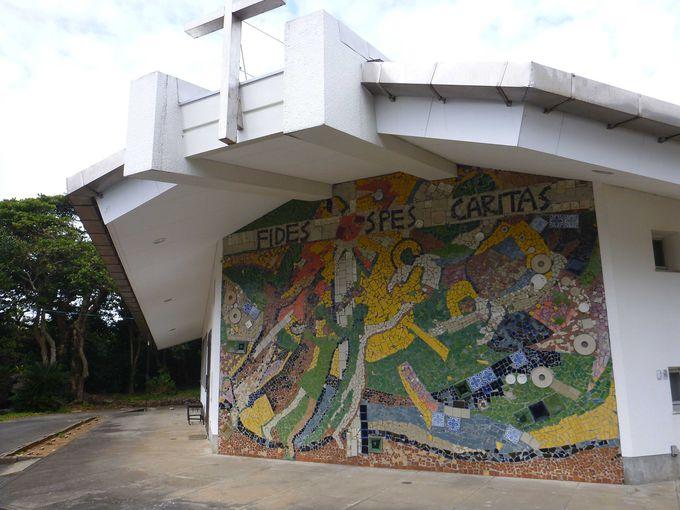 モザイク壁画が美しい三井楽教会