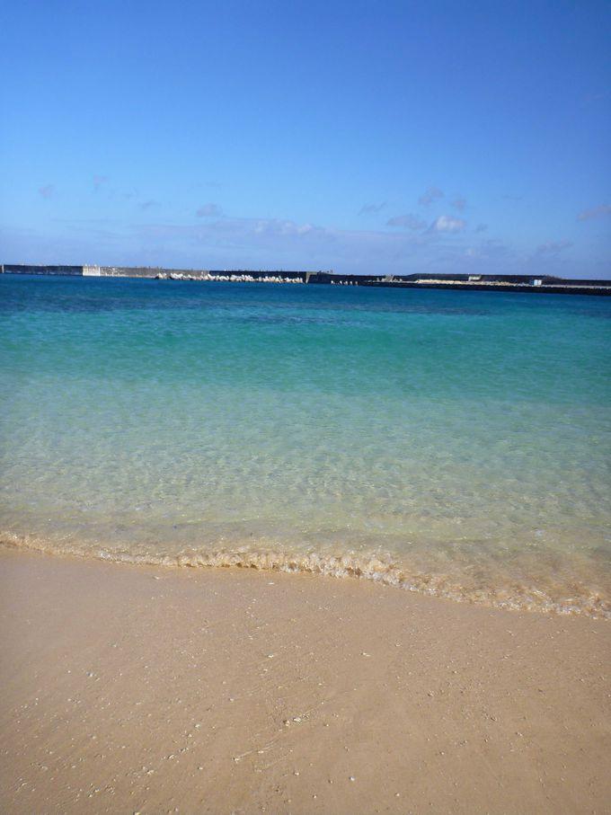【楽しみ方3】日本最西端のビーチで泳ぐ