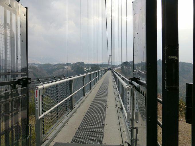 長さを体感!橋の前に立ってみよう!