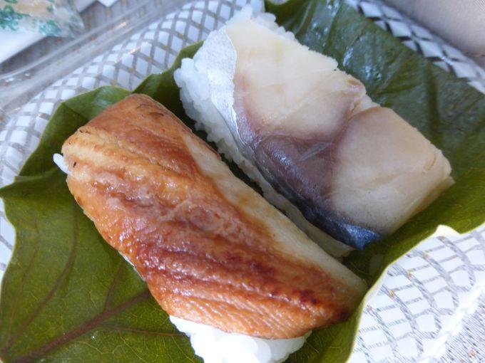 季節感もあり、手軽♪「柿の葉寿司」