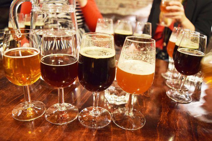 地ビールの工場でビール飲み比べ