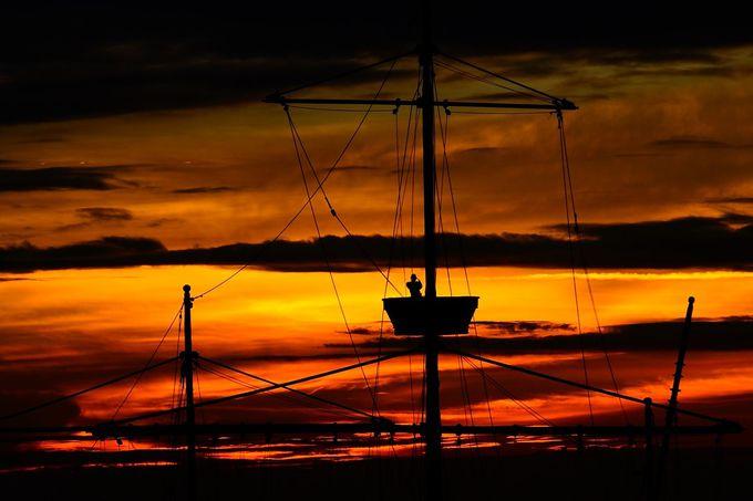 大航海時代の夕焼け
