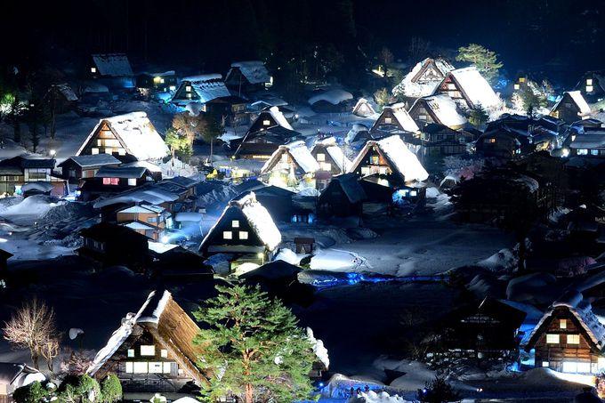 一生に一度は訪れたい!雪見ライトアップが美しすぎる日本の原風景「白川郷」(岐阜)