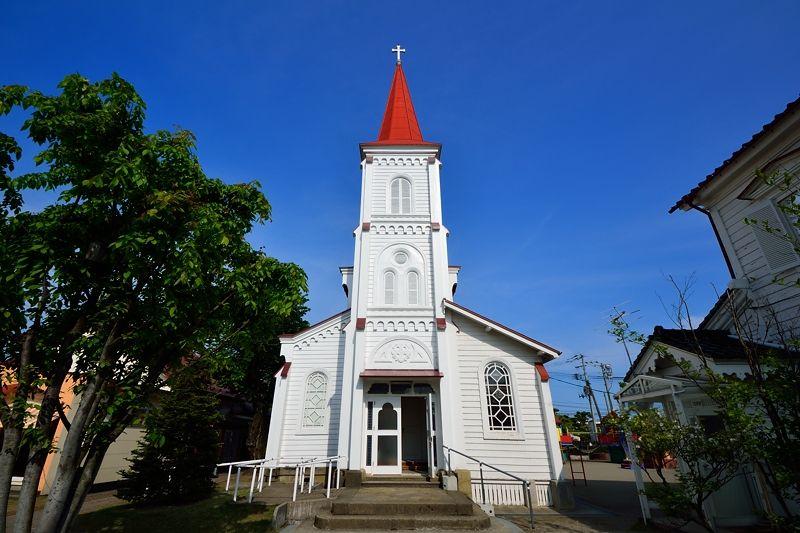 鶴岡のシンボル!とんがり屋根の鶴岡カトリック教会天主堂