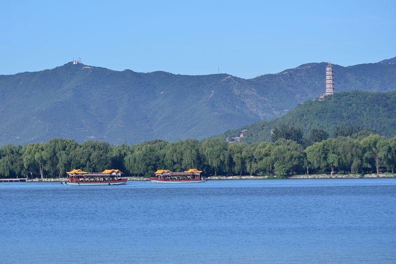 昆明湖を中心とした広大な庭園