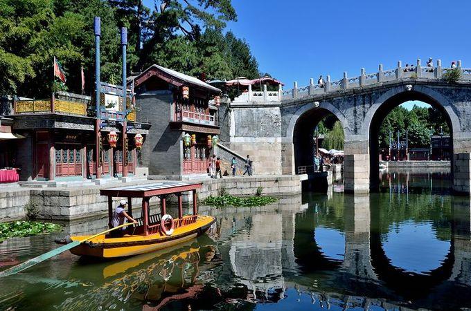 運河と橋と船