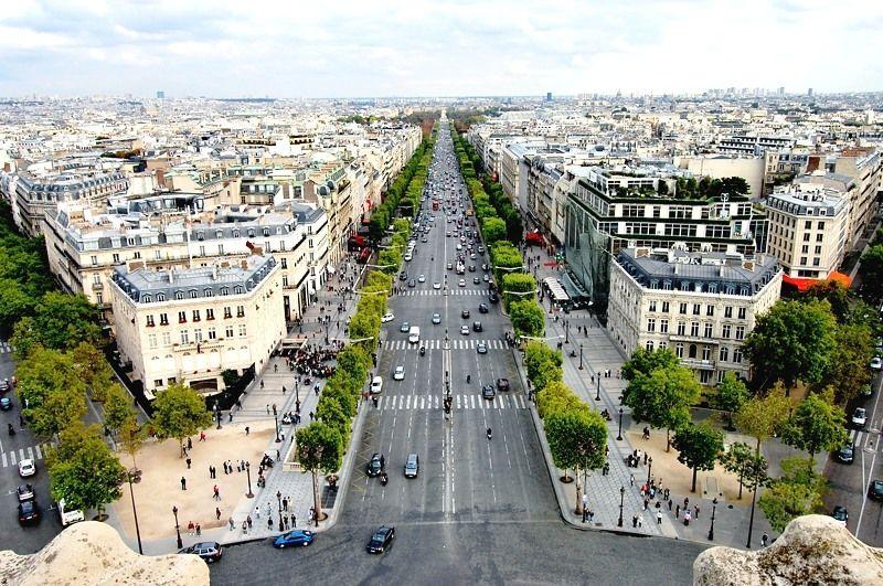 凱旋門屋上展望台から眺める、花の都パリ