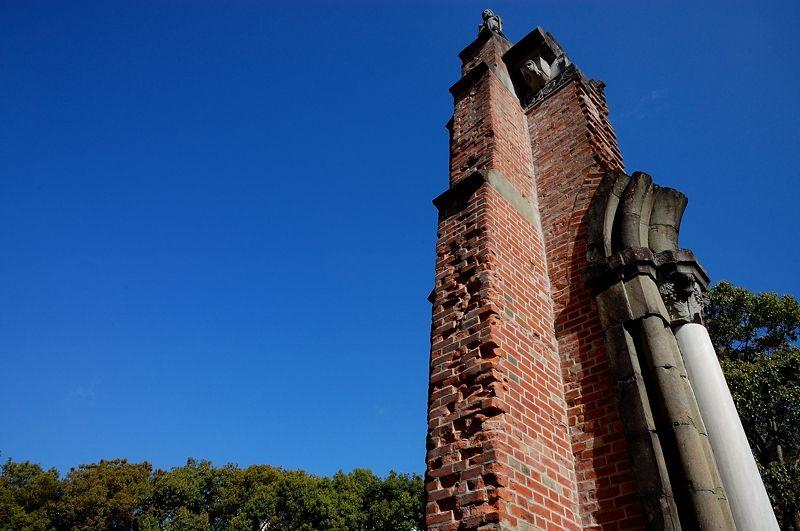 残された浦上天主堂遺壁