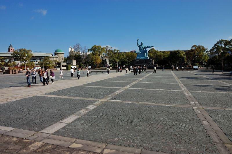 爆心地に広がる「平和公園」