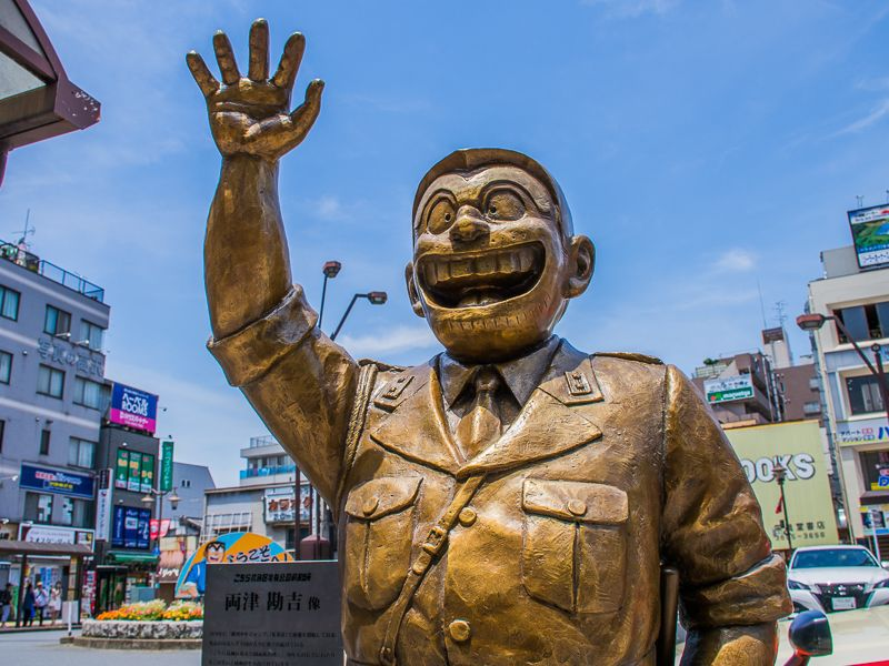 東京・亀有で楽しむ「こち亀銅像」巡り!漫画の舞台で両さんたちに出会う旅!