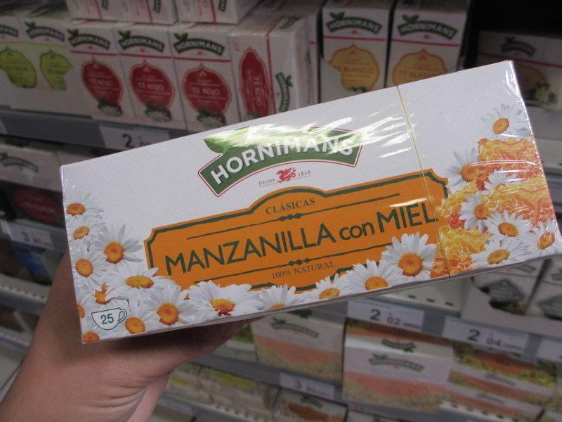 飲みやすい蜂蜜入りカモミールティ
