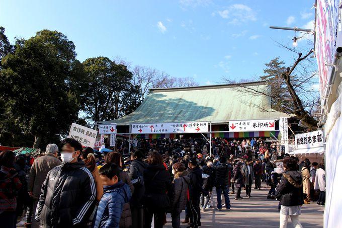 毎年1月3日は喜多院「初大師 だるま市」