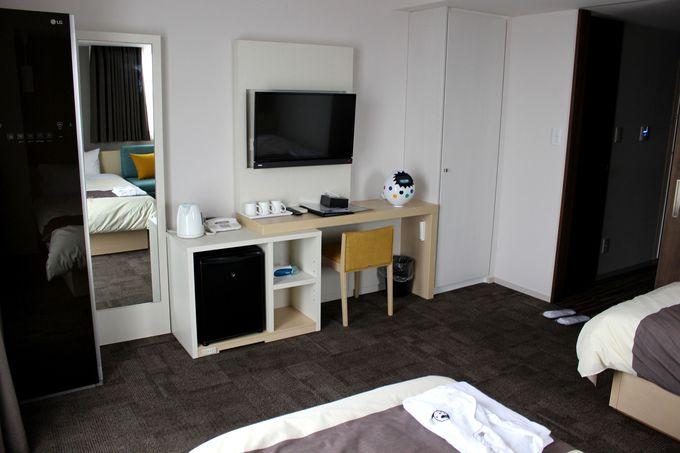 快適さとエンタテインメント性を兼ね備えた客室