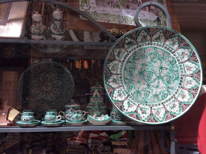テルエルの陶器は緑が印象的!