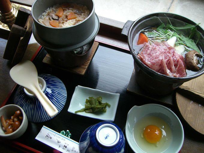 2983(つくばさん)円の3種鍋の味くらべコースは入浴料付!